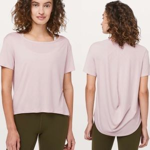 Lululemon Fall In Place Short Sleeve Pink B161